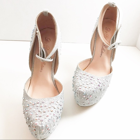 Dsw Silver Sparkles Wedding Formal Shoe